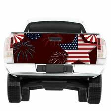 Car Truck Graphics Decals American Flag Banner Striped Rear Window Graphic Decal Tint Sticker Truck Suv Ut Auto Parts And Vehicles