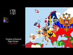 timeline of national flags europe
