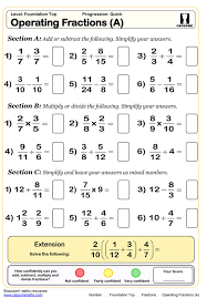 4th grade 8th math worksheets fraction
