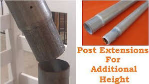 Post Extensions For Additional Height Galvanized Fence Post Diy Fence Fence Post