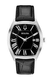 tonneau black leather strap watch