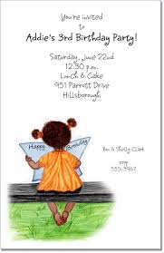 Ethnic Girl Birthday Invitations, African American Invitations