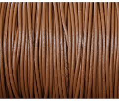 2mm light brown round leather cord
