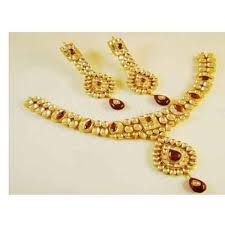 22k gold plated india handmade kundan