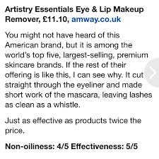 artistry eye lip makeup remover