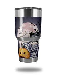 Skin Decal Wrap For Yeti Tumbler Rambler 30 Oz Halloween Jack O Lantern Pumpkin Bats And Zombie Mummy Tumbler Not Included By Wraptorskinz Walmart Com Walmart Com