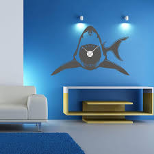 Shark Wall Wall Decal Clock Style And Apply