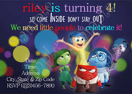 Disney Inside Out Birthday Party Invitation Disney Inside Out