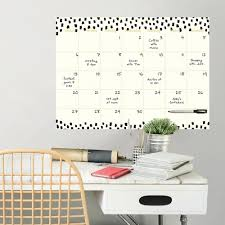Wall Pops White Luxe Monthly Calendar Wall Decal Wpe2291 The Home Depot