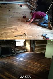 finish a floor with pure tung oil