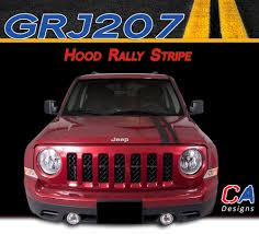 2007 2015 Jeep Patriot Hood Rally Vinyl Stripe Kit Moproauto Professional Vinyl Graphics And Striping