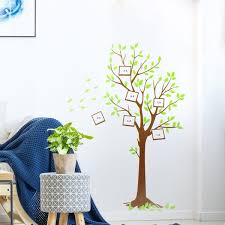 Shop Green Tree Pattern Wall Stickers Removable Art Decal For Bedroom Living Room Brown On Sale Overstock 29435432