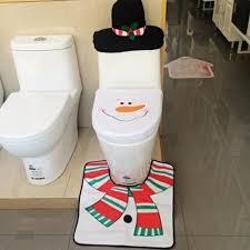 santa toilet seat cover rug tank