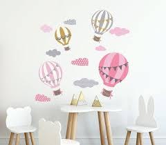 Decalcomanie Da Muro Degli Aerostati Di Aria Decal Sticker Da Etsy Nursery Room Decor Girl Animal Wall Decals Wall Decals