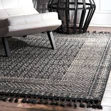 living room rug white striped dark gray