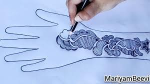 mehandi design pencil drawing