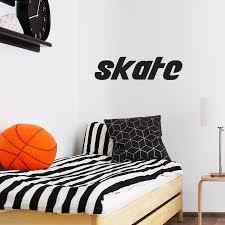 Skate Vinyl Wall Art Sticker Decor 14 X 3 Boys Room Sk8tr Wall Dec Imprinted Designs