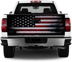 Amazon Com Tailgate Wrap T328 American Flag Distressed Vinyl Graphic Decal Sticker F150 F250 F350 Ram Silverado Sierra Tundra Ranger Frontier Titan Tacoma 1500 2500 3500 Bed Cover Automotive