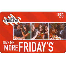 t g i friday s gift card
