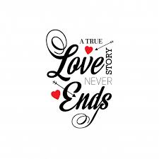 true love story never ends vector