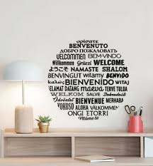 Welcome In Different Languages Wall Decal Office Decor Vinyl Sticker Sign 880 Ebay