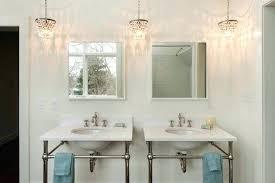 small bathroom crystal chandelier