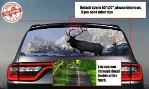 Deer Hunting Elk Northern Stag Rear Window Tint Perforated Decals Stickers Auto Ebay