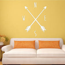 48 Off Dsu Tribal Arrow Compass Wall Decal Removable Vinyl Wall Sticker For Kids Rooms Bedroom Wall Art Nursery Home Decal Rosegal