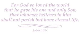 John 3 16 Wall Decal Religious Decals Stickers Whimsi Decals Whimsidecals