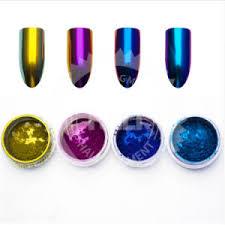 chrome mirror powder nail art glitter