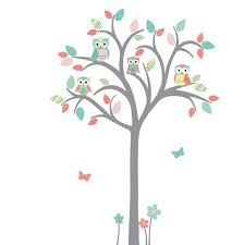 Owl Tree Wall Decal Nursery Wall Decal Owl Nursery Wall Art Etsy