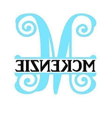 Monogram Initial Name Decal Sticker For Yeti Cups