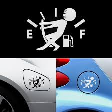 1 Pcs Funny Car Sticker Pull Fuel Tank Pointer To Full Hellaflush Reflective Vinyl Car Sticker Decal Wholesale Car Stickers Aliexpress