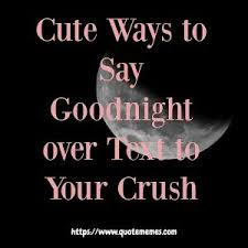 cute ways to say goodnight over text to your crush quote memes