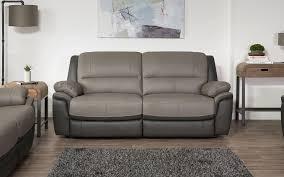leather sofas in white black grey