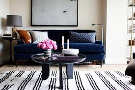 a thin black and white striped rug