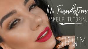 no foundation makeup tutorial chatty