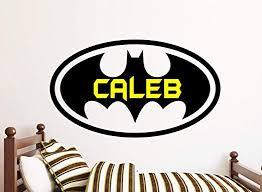 Amazon Com Best Design Amazing Batman Wall Decal Batman Decor Batman Laptop Stickers Wall Decal Murals Boys Room Decor Batman Monogram Batman With Name Made In Usa Kitchen Dining