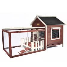 Advantek The White Picket Fence Rabbit Hutch In Auburn White Petco