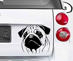 Cute Pug Dog Lovely Vinyl Decal Sticker Car Wall Bumper Laptop Window Xbox Archives Midweek Com