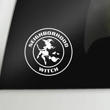 Neighborhood Witch Car Decal Pagan Laptop Decal Wicca Vinyl Sticker Witch On A Broom Window Decal Halloween Decal Goth Decal Wish