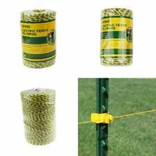 Business Industrial Fencing Farmily Portable Electric Fence Polywire 1312 Feet 400 Meter 6 Conductor Yell Studio In Fine Fr