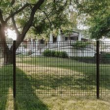 4 X 6 Black Euro Fence Panel At Menards