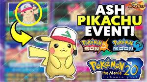 Ash Hat Pikachu' Event for Pokémon Sun and Moon! - Pokémon The ...