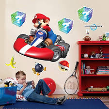 Amazon Com Birthday Express Mario Kart Wii Room Decor Giant Wall Decals Toys Games