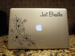Excited To Share This Just Breathe Decal Floral Decal Custom Vinyl Computer Laptop Car Auto Vehicle Window Decal In 2020 Computer Decal Floral Decal Custom Vinyl Decal