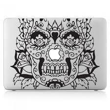 Rose Sugar Skull Laptop Macbook Vinyl Decal Sticker