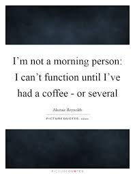 i m not a morning person i can t function until i ve had a