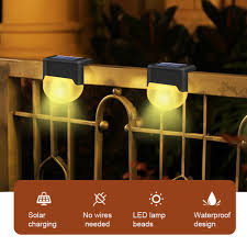 6pcs Ip55 Waterproof Street Intelligent Abs Yard Landscape Wall Stair Path Easy Install 3000k Color Temperature Solar Powered Outdoor Garden Led Fence Lights Lazada Ph