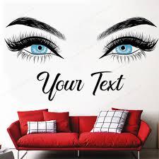 Mega Discount 4b9d Eyelashes Wall Decal Color Eyes Wall Decor Beauty Salon Wall Vinyl Sticker Custom Text Make Up Art Mural Hj574 Cicig Co